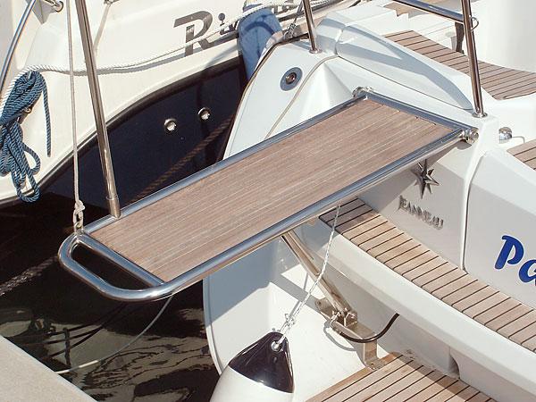 Bgv torino linea inox passerella idraulica for Accessori per barca a vela