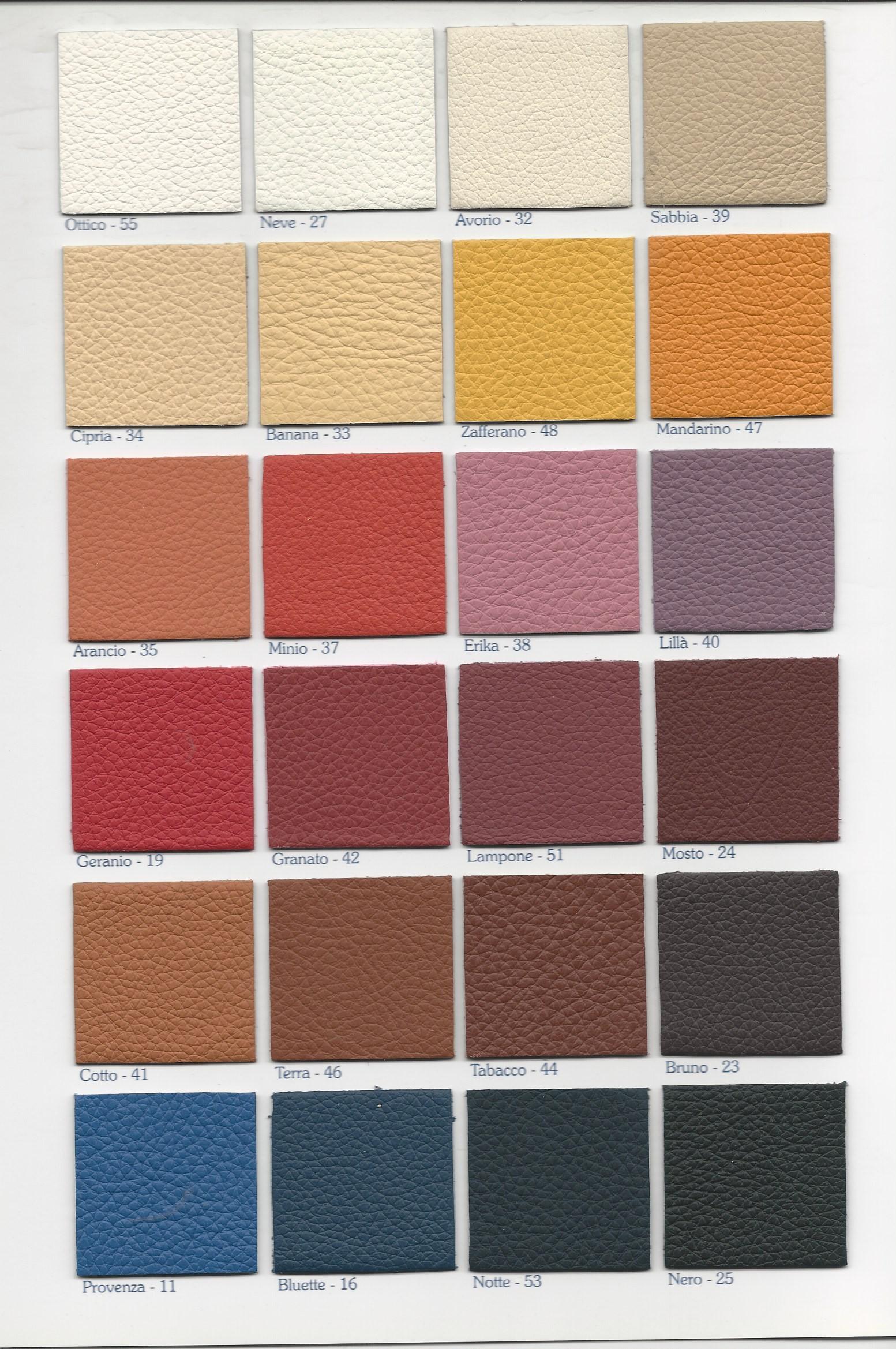 Pelle Per Arredamento.Bgv Torino Cartella Colori Pelle Arredamento Zefiro